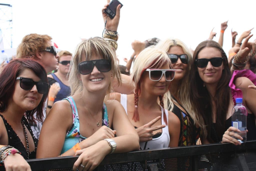 Fans at a Festival by Booking Express Travel