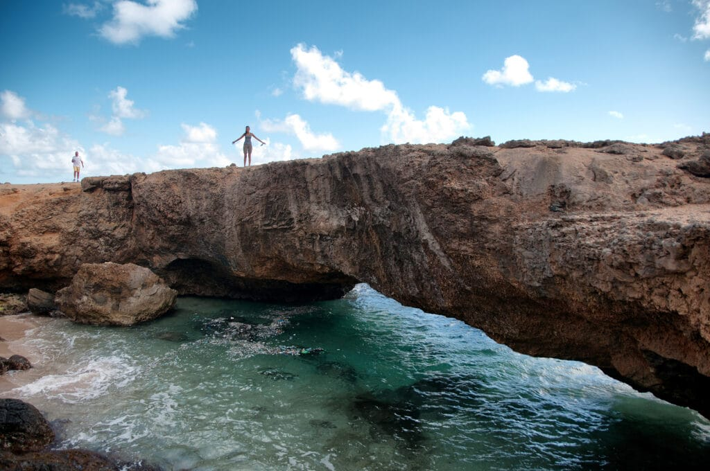 Picture of Baby Natural Bridge Landmark in Aruba by booking Express travel